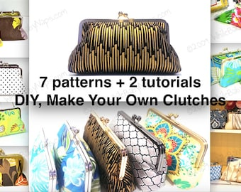 Clutch Tutorials PDF - NOW with 7 patterns - 10 inch, 8 inch, 6 inch, 4.5 inch, 3 inch