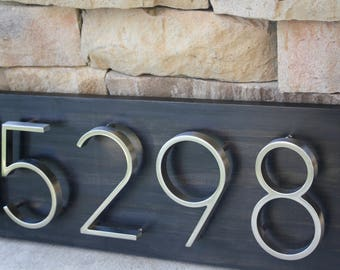 Address Plaque | Modern House Numbers | House Number Plaque | House Number Sign | Address Sign | House Numbers | Wedding Gift