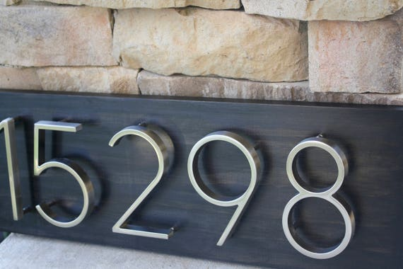 Address Plaque Modern House Numbers House Number Plaque
