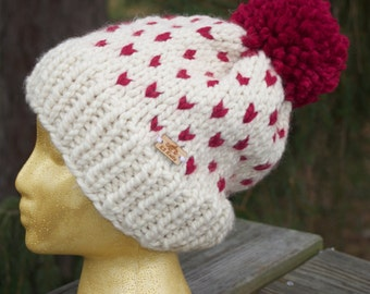 Chunky Knit Fair Isle Hat // The Isle Hat // Knit // One Size