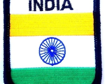 India Embroidered Patch