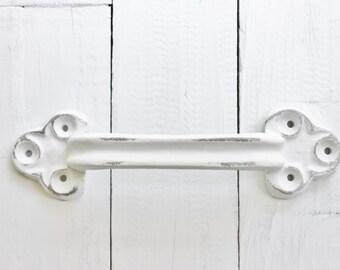 Large Iron Door Handle, Towel Holder,Barn Door Pull, Home Fixtures, Door Handle, Pull Handle, Supplies , Black Handles, New Home
