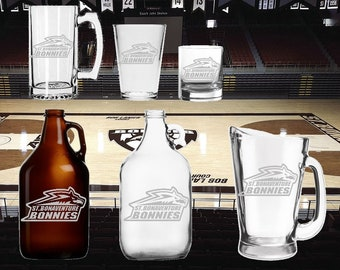 St Bonaventure  etched Glassware - Mug - Glass - Beer - Growler Bonnies