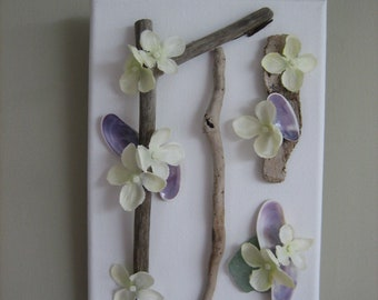 Decorative Canvas with Shells
