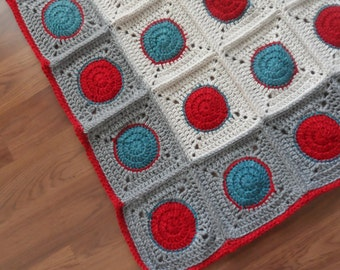 Love the Dots! Crocheted Baby Blanket