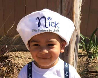 Personalized White Sailor Hat