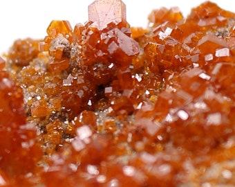 Crystallized vanadinite - raw minerals - Morocco - 145 gr