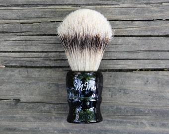 Personalized Shave Brush - Straight Razor - Safety Razor - Men's Grooming - Classic Shaving - Silvertip Badger - Wet Shaving - Gifts for Men