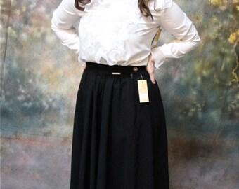 1980's Wool Skirt - Vintage Wool Skirt - Ankle Length Skirt -  Giesswein Wool Skirt - Lined Wool Skirt -  Size 42 - Pocketed Skirt
