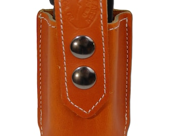 New Saddle Tan Leather Single Magazine Pouch (#ST1MAG)