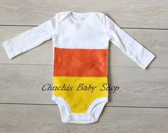Baby Halloween Candy Corn Costume outfit Baby Onesie baby Halloween costume Candy Corn bodysuit baby & Candy Corn Baby Cocoon Crochet Baby Cocoon Candy Corn Baby