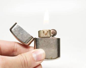 ANTIQUE DORCEL LIGHTER - working Old Flip Top 1950s Mexican Made Vintage Pocket Lighter