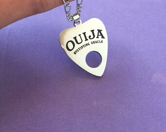 Ouija planchette necklace, Ouija necklace, planchette necklace, ouija choker, planchette choker, planchette keychain, goth necklace