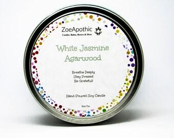 White Jasmine Agarwood  Hand-Poured Soy Candle