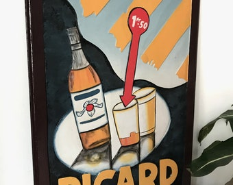 Decorative painting wooden Ricard