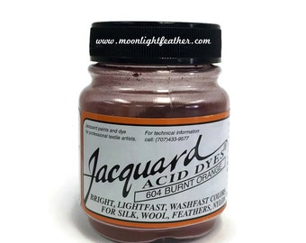 Feather, silk, wool, cashmere and Yarn Dyes - BURNT ORANGE Jacquard Acid Dyes - 1/2 Oz : 3710
