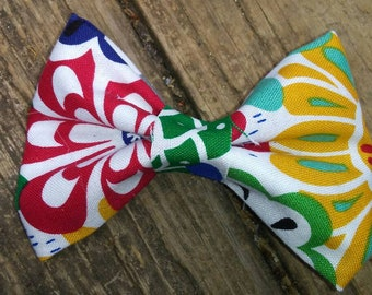 3.5 Inch Floral Fabric Hairbow