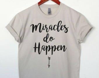 Pregnancy Announcement Shirt ,Miracles do Happen Pregnancy Shirt , Pregnancy Shirt,Baby Announcement Shirt