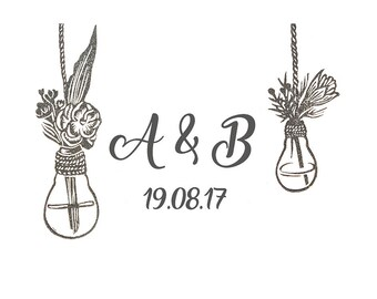 Wedding Stamp, Monogram, Hand Carved, Wedding Invitations, Stamp Initials, Wedding Favors, Stamping, DIY