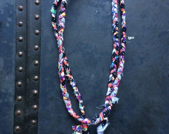 SMPTE - OOAK Handmade Braided Fabric Necklace