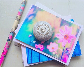 Bundle mini notecards (seconds) x 6 cards with envelopes assorted - by Art loves Here