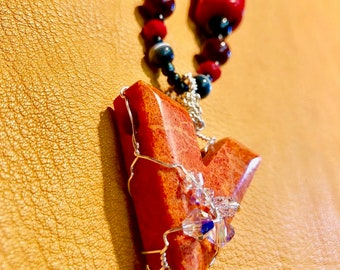 Wire Wrapped Red Sponge Coral