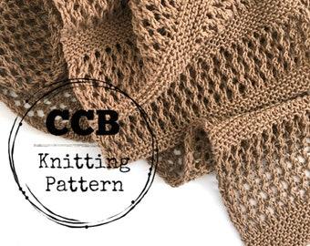 Emmilene Scarf Knitting PATTERN // Lace Scarf // Spring Scarf // Summer Scarf