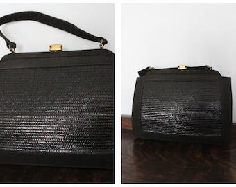 1940s Handbag // Pretty Iridescent Purse // vintage 40s handbag