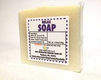 Relax Lavender Soap - Handmade soap - Cold Process soap - 100% Natural