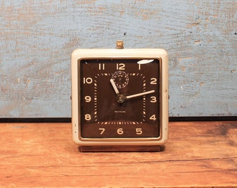 Vintage 1950s Westclox Alarm Clock, Wind-up Clock, Vintage Alarm Clock, Alarm Clock