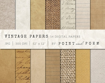 50% OFF SALE Digital Papers, Kraft Papers, Old Vintage, Backgrounds, Antique Notebook Paper, Crumpled, Brown - Commercial Use
