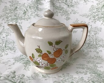 VINTAGE TEAPOT Pottery Style Casualstone 1970s