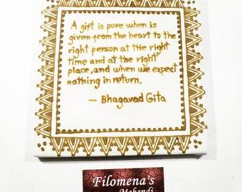 Bhagavad Gita quote, Quote canvas, Quote art, Wall quote, Canvas quote, Positive art, Positive quote wall, Be grateful, Wall art quotes
