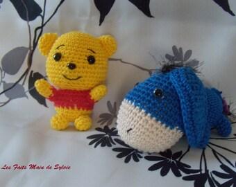 Mini Pooh or Eeyore crochet
