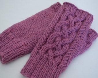 UNBREWED Knitting Pattern  - Adults Kids - Fingerless Mitts, Handwarmers PDF File