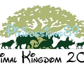 Disney Animal Kingdom - 'Animal Kingdom 2018' - INSTANT DOWNLOAD Iron On T-Shirt Transfer Image