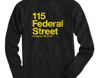 LS Pittsburgh Baseball Stadium Tee - Long Sleeve T-shirt - Men S M L XL 2x 3x 4x - Pitt Shirt, Fan, Sports - 4 Colors