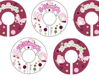 Raspberry Swirl Closet Clothing Dividers for Girls