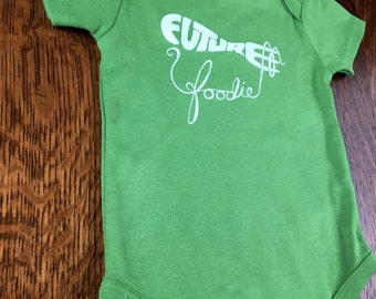 Funny Baby Clothes, Funny Baby Shirts, Cute, Organic Baby Clothes, Cotton, Unisex Baby Gift, Best Baby Gifts, Green Outfits, Future Foodie