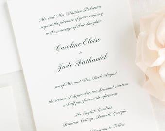 Caroline Wedding Invitations - Sample