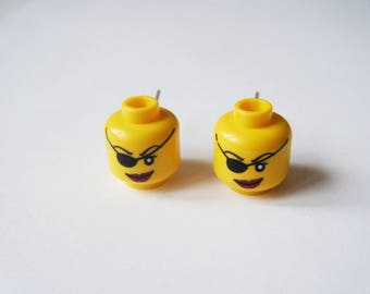 Earrings Lego heads Pirate girl ♥ ♥ ♥