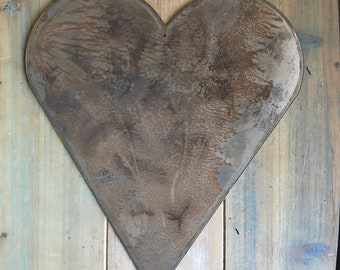 "HEART - 8"" Rusty, Rustic Metal Heart- Make your own Sign, Gift, Art!"