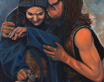 Jesus and Mary- Unconditional Love 8x10 matted