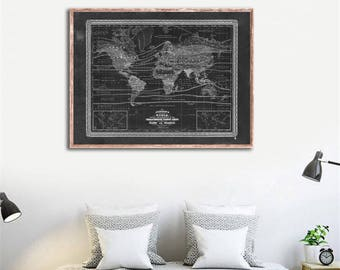 """1870s Johnson's World Trees, Plants & Minerals - Scientific Victorian map reprint - 3 color choices and 4 large/XL sizes up to 48"""" x 36"""""""