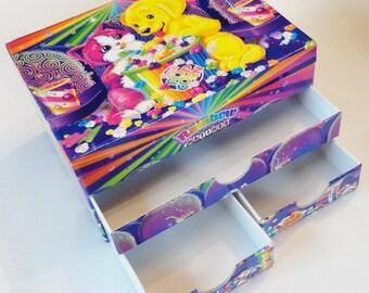 1 Vintage Lisa Frank Jewelry Box, Trinket Box - Rainbow Matinee - Dog, Cat, Rainbow, Popcorn, Candy, Movie Theater, Bright, Birthday Gift