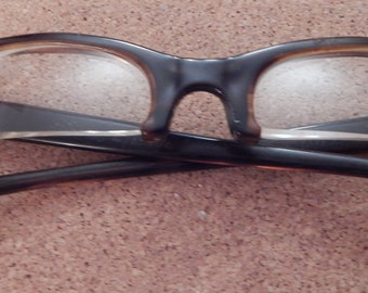 Vintage Bel-Air 4 1/4-5 3/4  brown framed  half glasses