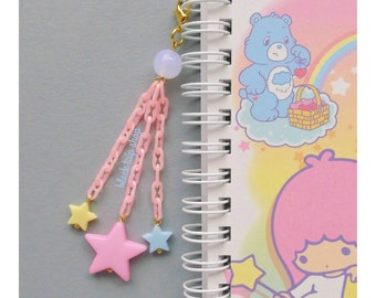 Planner Charm Phone Charm Bag Charm Kawaii Charm Pastel Star Charm Dust Plug Zipper Pull Sweet Lolita Fairy Kei Retro 80s Cute Charms
