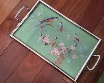 1950s Decorative Asian Themed Tray