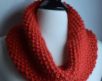 Christmas Red Alpaca Cowl / Neckwarmer