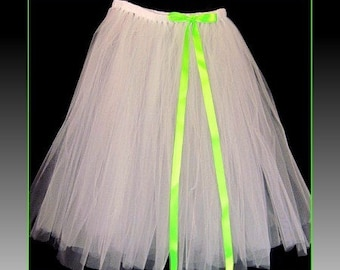 """Tutu skirt 30"""" long  and a floor length bow to match customize your size and color(s) priority shipping"""